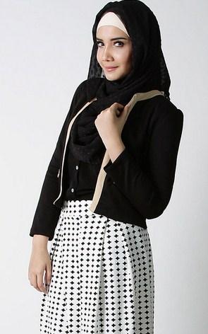 Gambar Contoh Model Blazer Muslim Terbaik 3 - Busana Kerja Terbaru ala Zaskia Sungkar