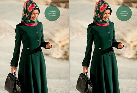 Gambar Model Baju Muslim Kantor Terbaru 8 - Model Baju Turki Buat Kerja