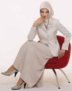 Gambar Model Baju Muslim Kantor Terbaru 9 - Desain Baju Kerja atasan bawahan
