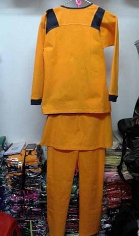 Koleksi Foto dan Contoh Model Trend Baju Senam Muslim 11 - Warna Kuning Busana Terbaru